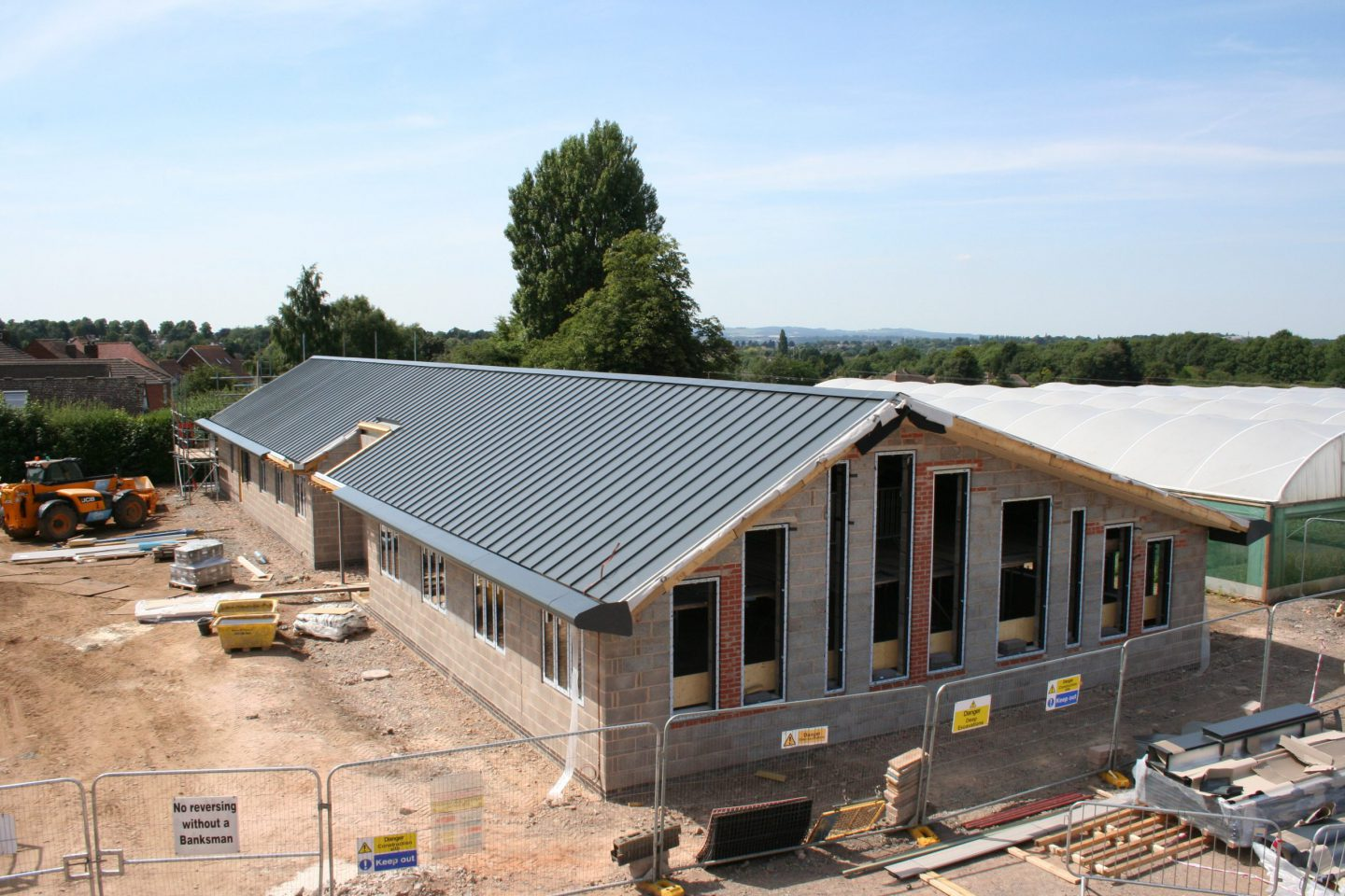 New office construction at Coles Nurseries
